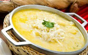 Soška sirova juha